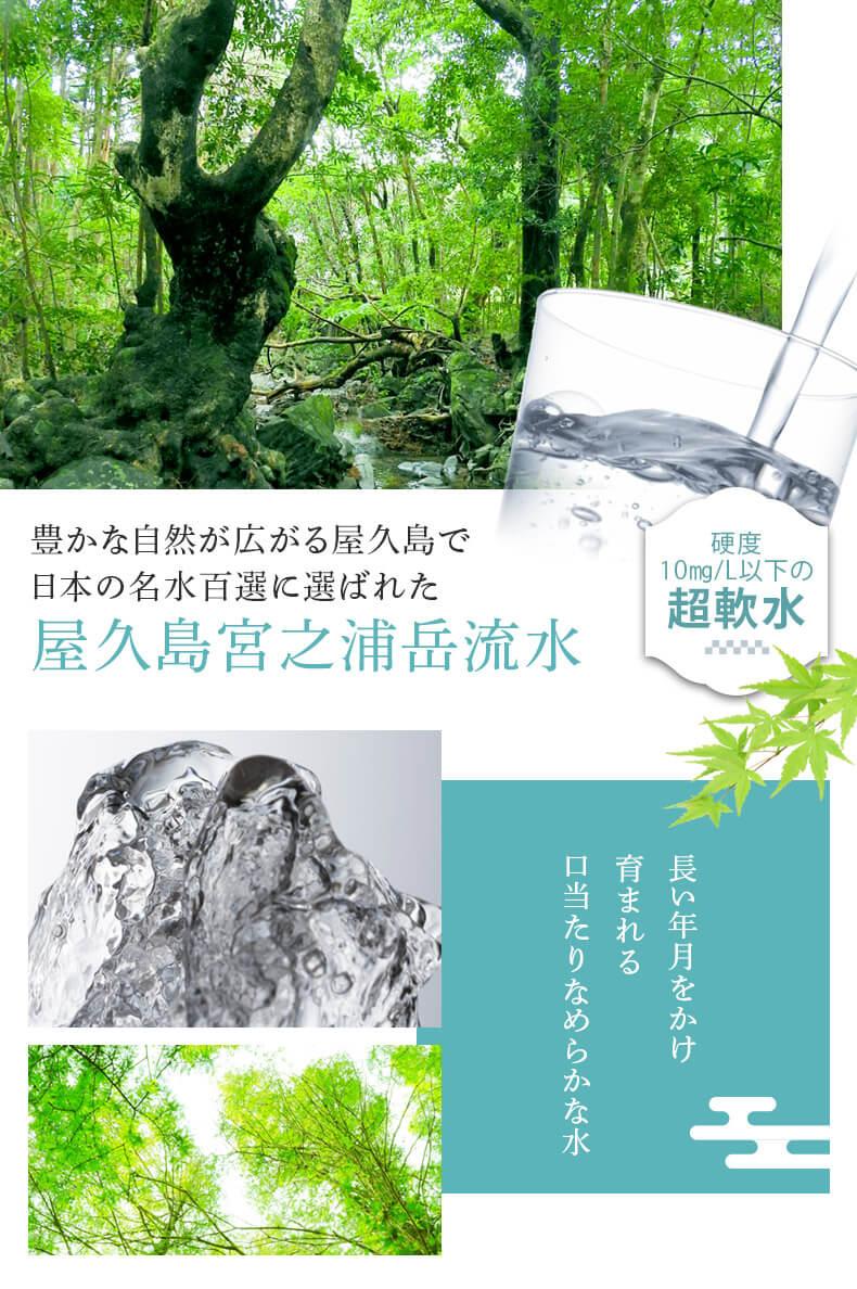 日本の名水百選に選ばれた屋久島宮之浦岳流水