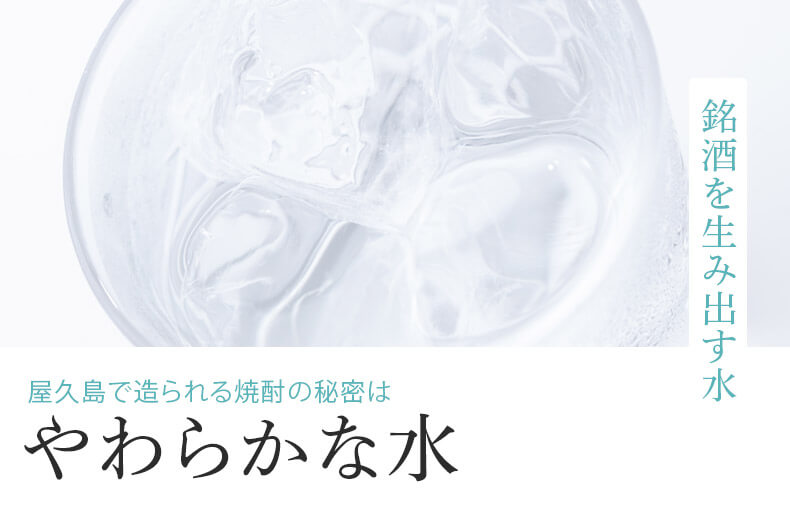 屋久島で作られる焼酎の秘密はおいしい天然水