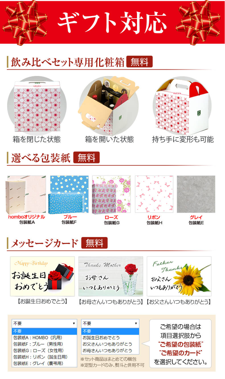 包装とメッセージカード